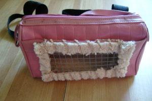 Кошачья сумка-переноска руками